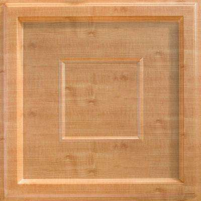 Inset Coffer 2 ft. x 2 ft. Lay-in Ceiling Tile in Light Maple