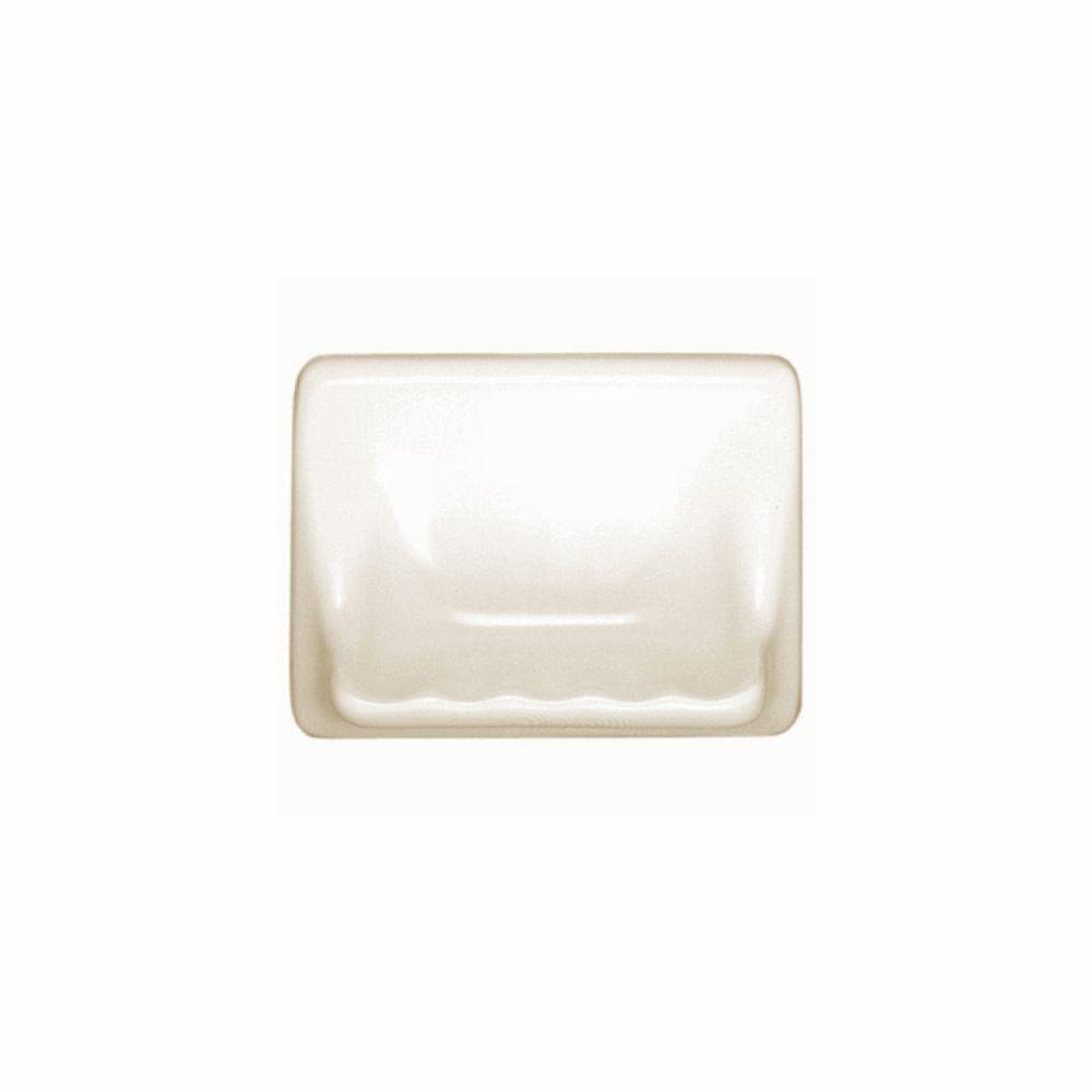 Daltile Bathroom Accessories Almond 4-3/4 in. x 6-3/8 in. Soap Dish Wall Accessory