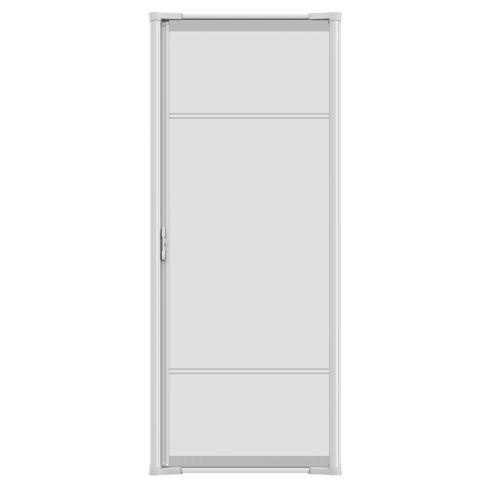 36 in. x 96 in. Brisa White Tall Retractable Screen Door
