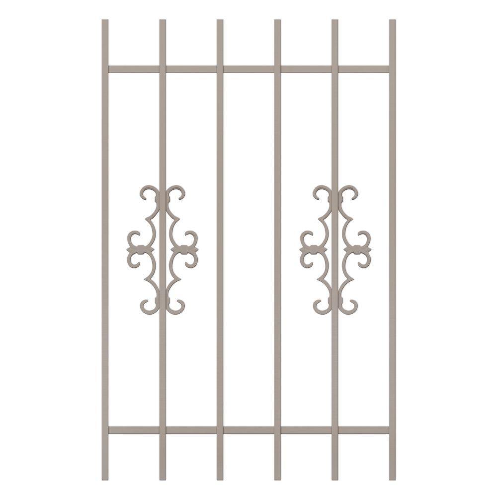 Unique Home Designs Watchman Trio 30 in. x 48 in. Tan 6-Bar Window Guard-DISCONTINUED