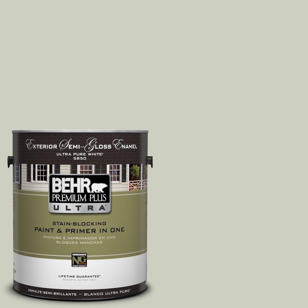 1-Gal. #UL210-11 Sliced Cucumber Semi-Gloss Enamel Exterior Paint