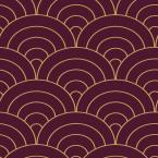 The Wallpaper Company 56 sq. ft. Aubergine Modern Spiral Wallpaper