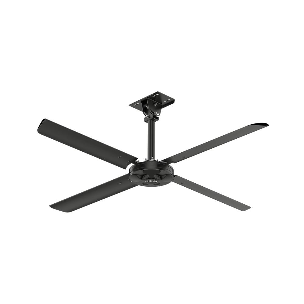 Modern Ceiling Fans Lighting The Home Depot And Red Wire Fan Wiring Without Light Also Hunter 110 Volt Single Phase Hvls Indoor Anodized Black
