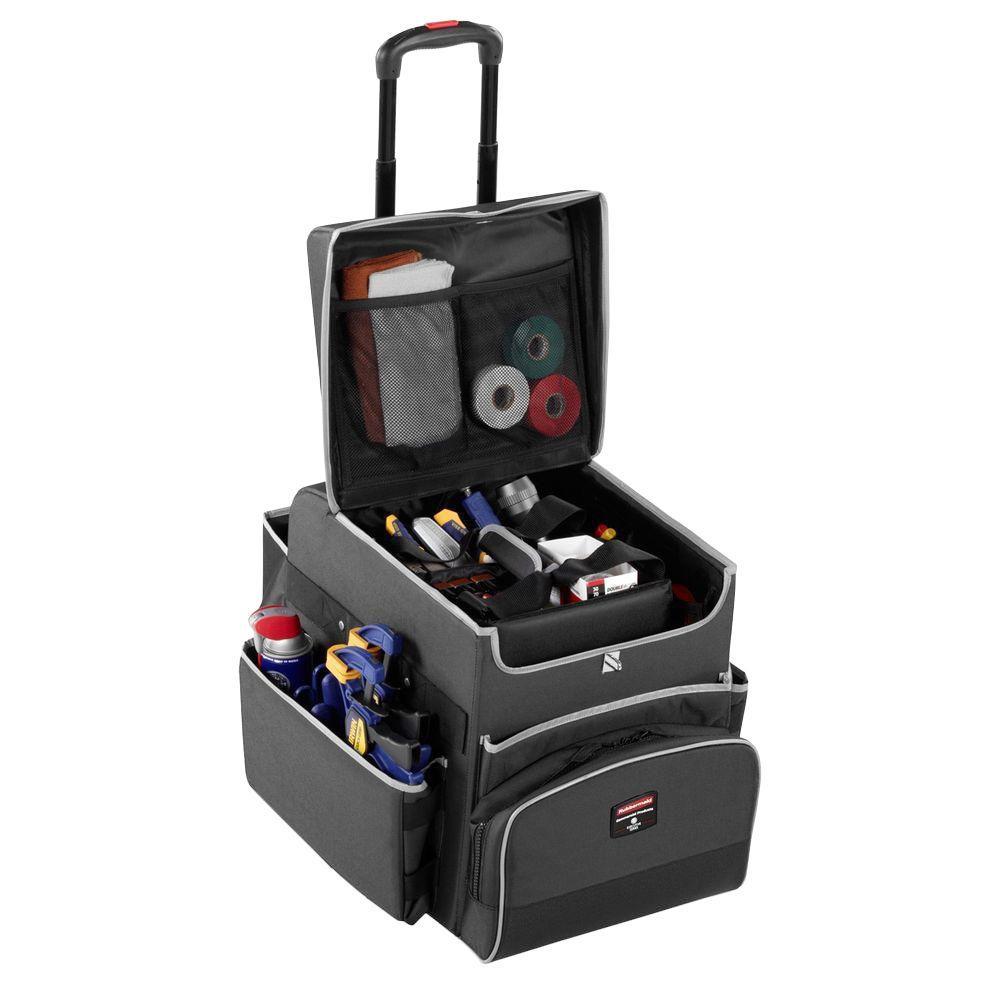 30 lb. Small Executive Quick Cart Telescopic Handle in Dark Gray