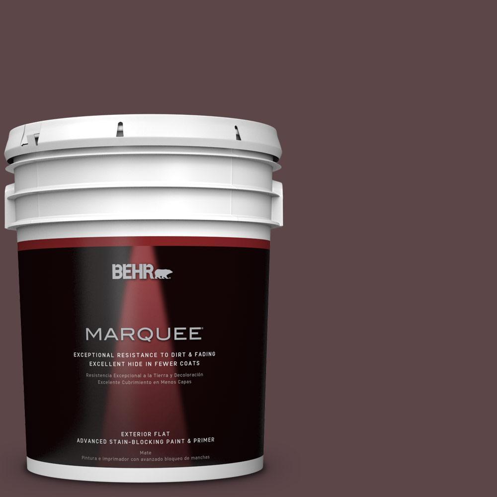5-gal. #BNC-31 Mahogany Spice Flat Exterior Paint