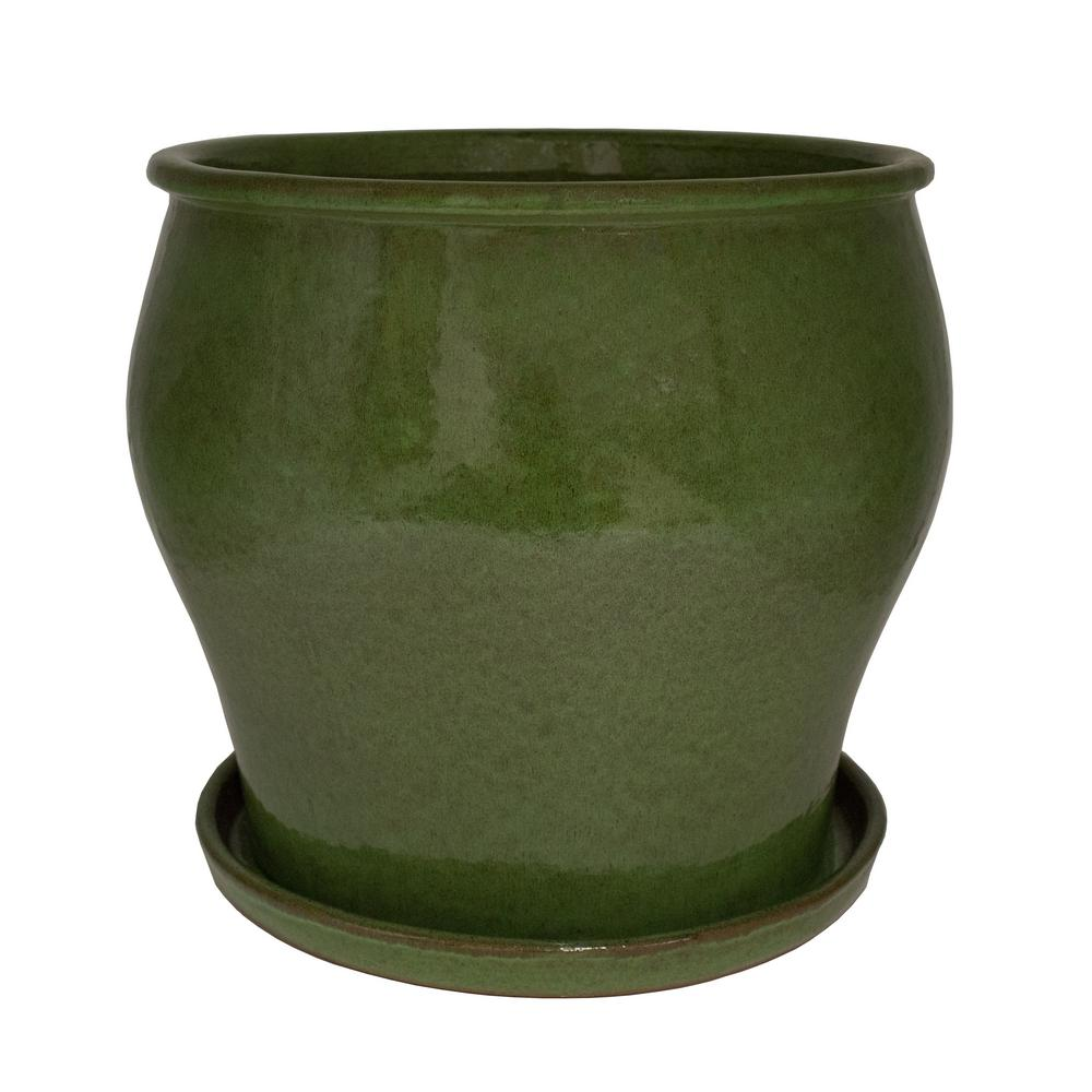 Dia Solid Js Green Ceramic Studio Planter