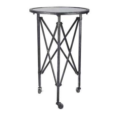 Gilbert Antique Silver Round Side Table