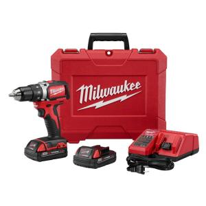 Milwaukee M18 18-Volt Lithium-Ion Brushless Cordless 1/2 inch Compact Drill/Driver Kit W/... by Milwaukee