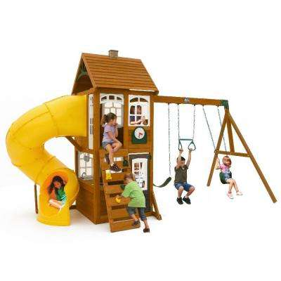 Creston Lodge Wooden Swing Set