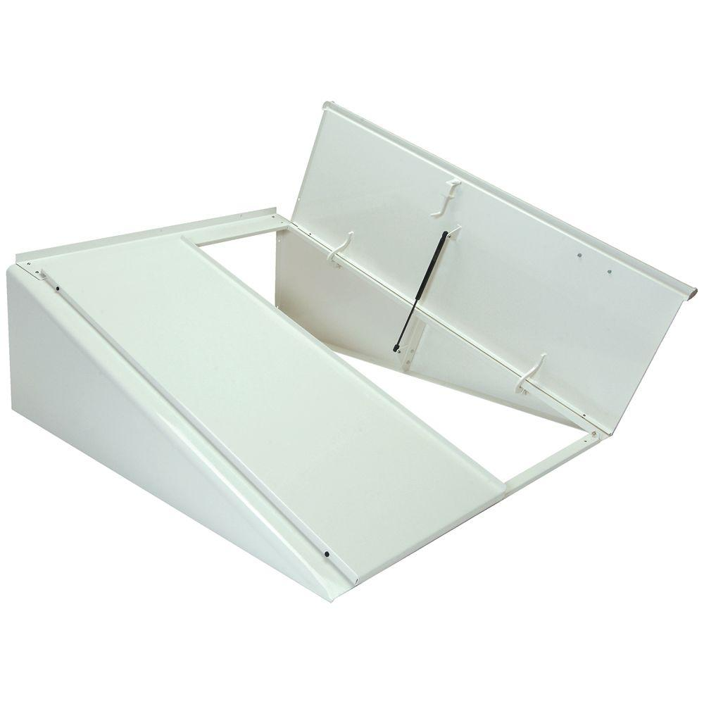 Classic Series 51 in. x 64 in. White Powder Coated Steel
