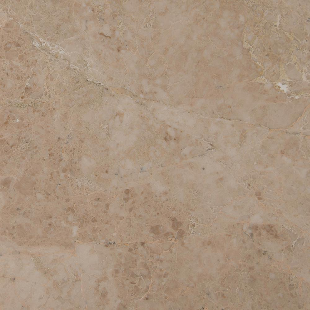 MSI Crema Cappuccino 12 in. x 12 in. Polished Marble Floor and Wall Tile (10 sq. ft. / case)