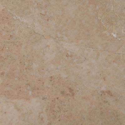 Crema Cappuccino 12 in. x 12 in. Polished Marble Floor and Wall Tile (10 sq. ft. / case)