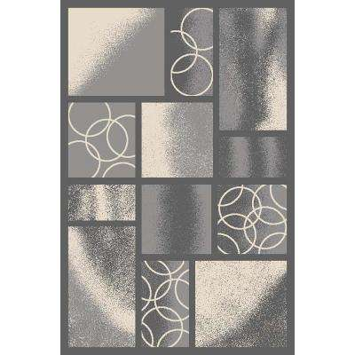 Hamam Collection Grey 3 ft. x 5 ft. Runner Rug