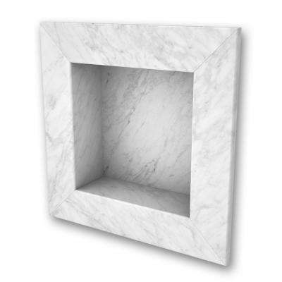 11 in. x 11 in. Square Recessed Shampoo Caddy in Frost