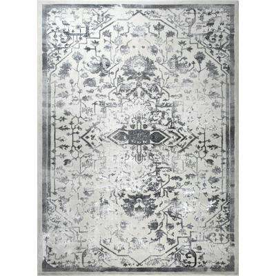 Jersey Ivory/Gray 3 ft. x 4 ft. Indoor Area Rug