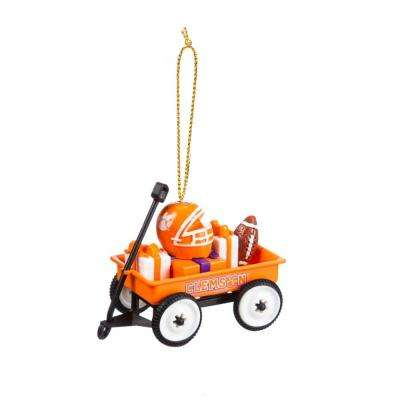 Clemson University 1-3/4 in. NCAA Team Wagon Christmas Ornament