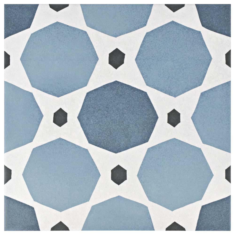 Caprice Colours Sapphire 7-7/8 in. x 7-7/8 in. Porcelain Floor and