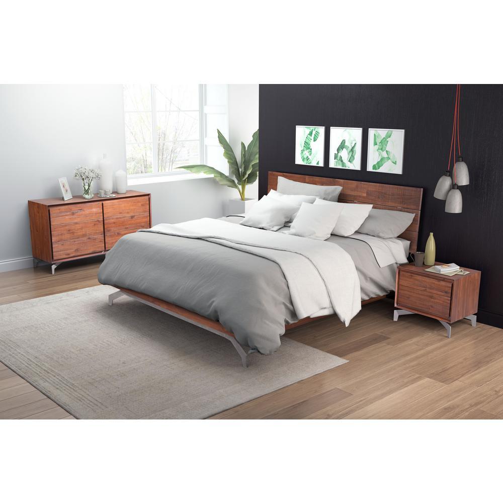 Zuo Modern Perth Chestnut (Brown) King Sleigh Bed