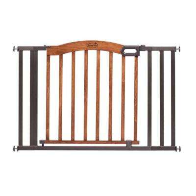 32 in. H Decorative Wood and Metal Pressure Mounted Gate