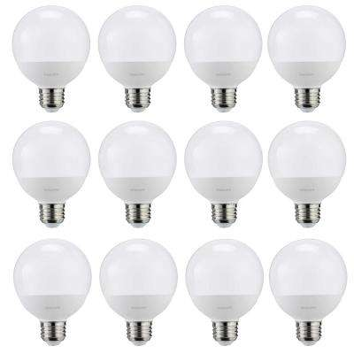 60-Watt Equivalent G25 LED Light Bulb Daylight Frosted Globe (12-Pack)