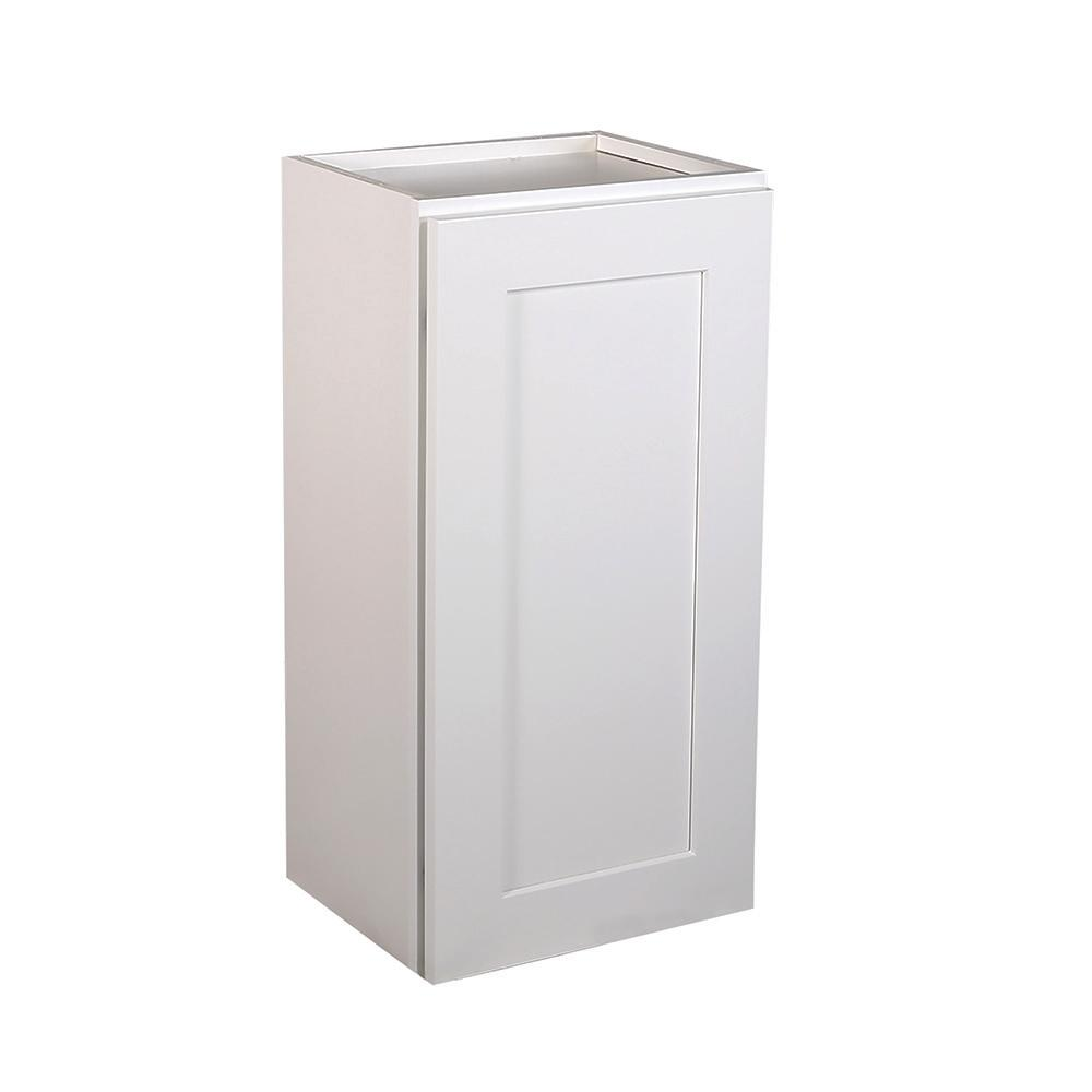 Design House Brookings Fully Assembled 18x36x12 in. Shaker Style Kitchen Wall Cabinet 1-Door in White