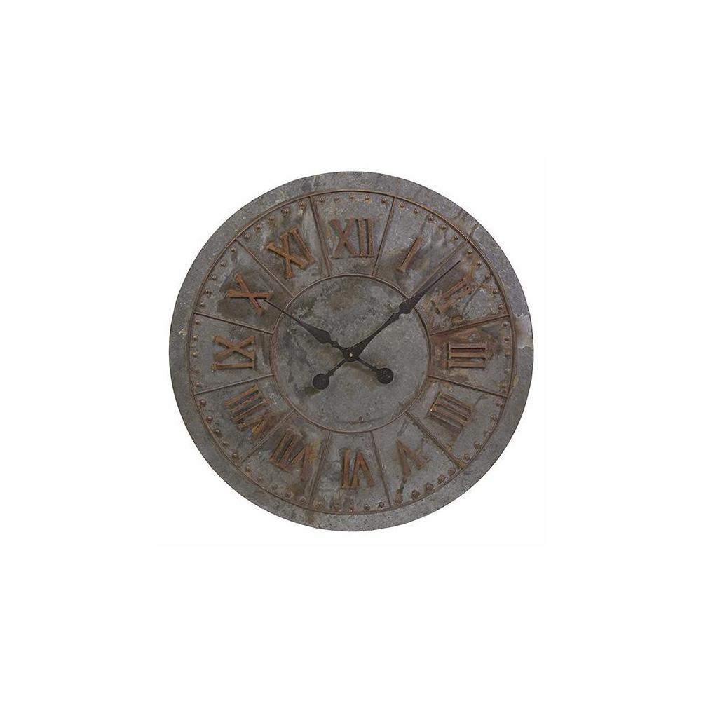 Kyan Grey and Brown Vintage Wall Clock