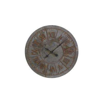 Kyan Grey and Brown Vintage Wall Clock