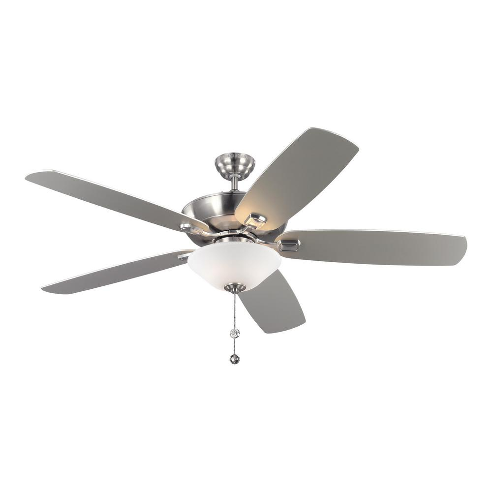 Monte Carlo Colony Super Max Plus 60 in. Indoor Brushed Steel Ceiling Fan
