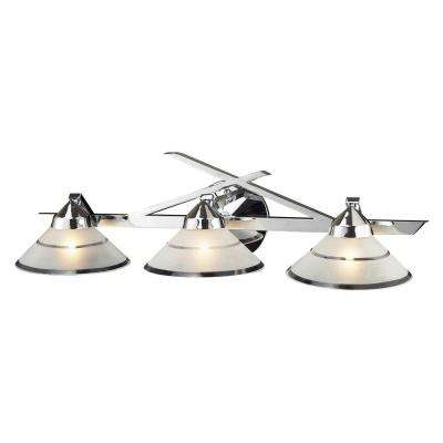 Refraction 3-Light Polished Chrome Wall Mount Sconce