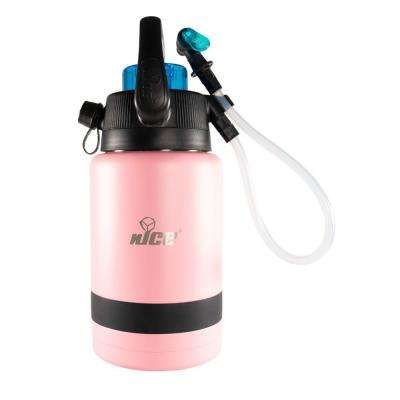 Pump2Pour 1 Gal. Pink Insulated Jug With Hose and Spout