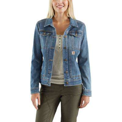Women's X-Large Stonewash Denim Benson Denim Jacket