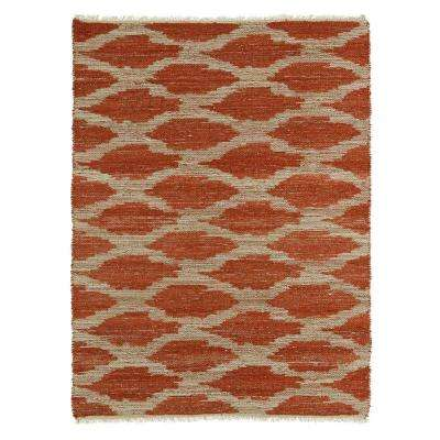 Kenwood Paprika 5 ft. x 8 ft. Double Sided Area Rug