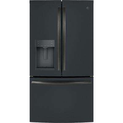 27.8 cu. ft. French Door Refrigerator with Door In Door in Black Slate