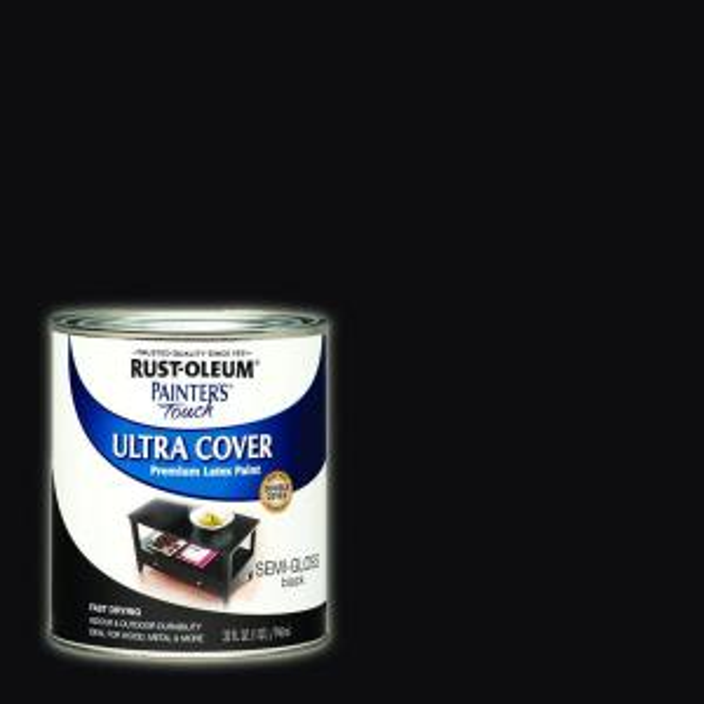 32 oz. Ultra Cover Semi-Gloss Black General Purpose Paint