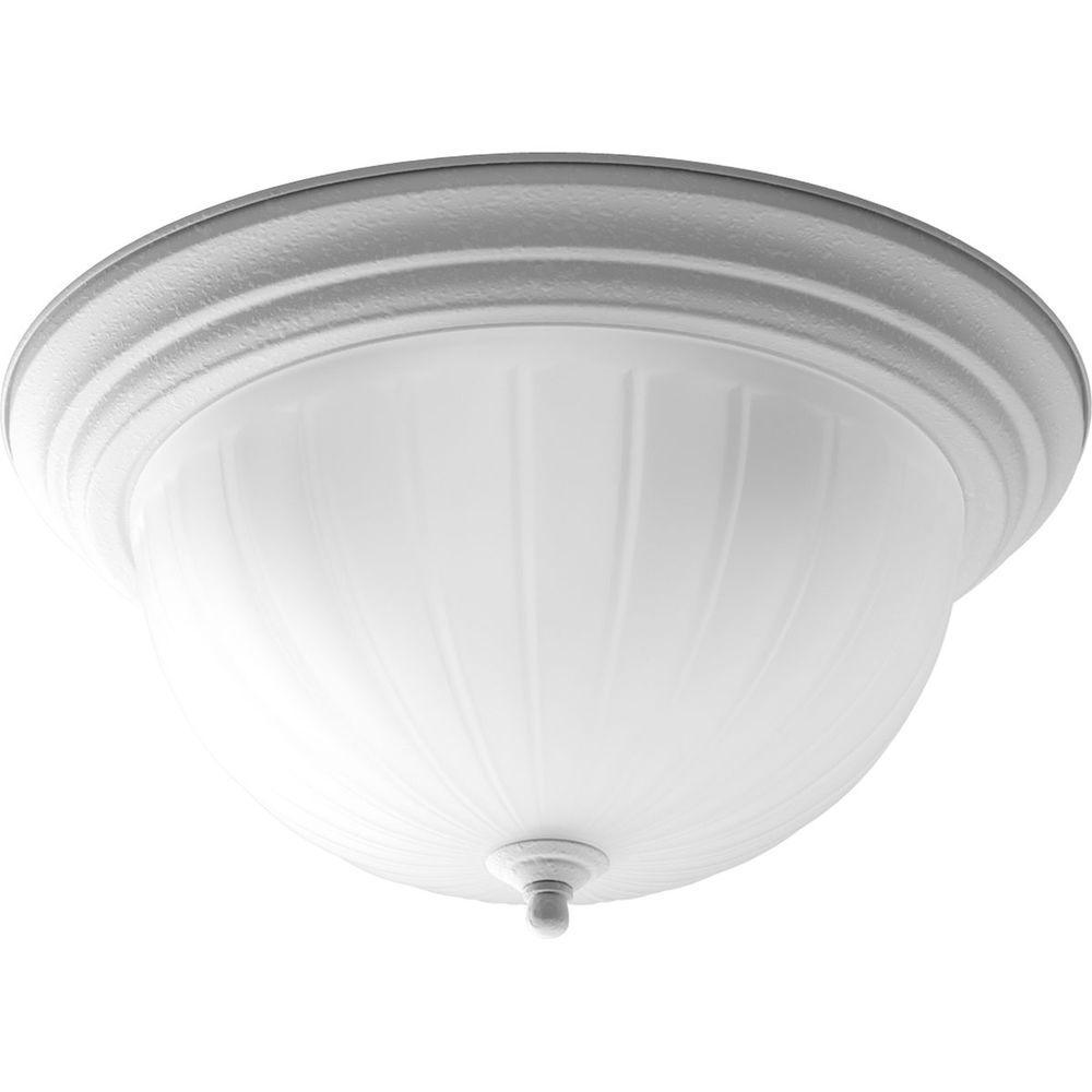 Progress Lighting 3-Light White Flushmount