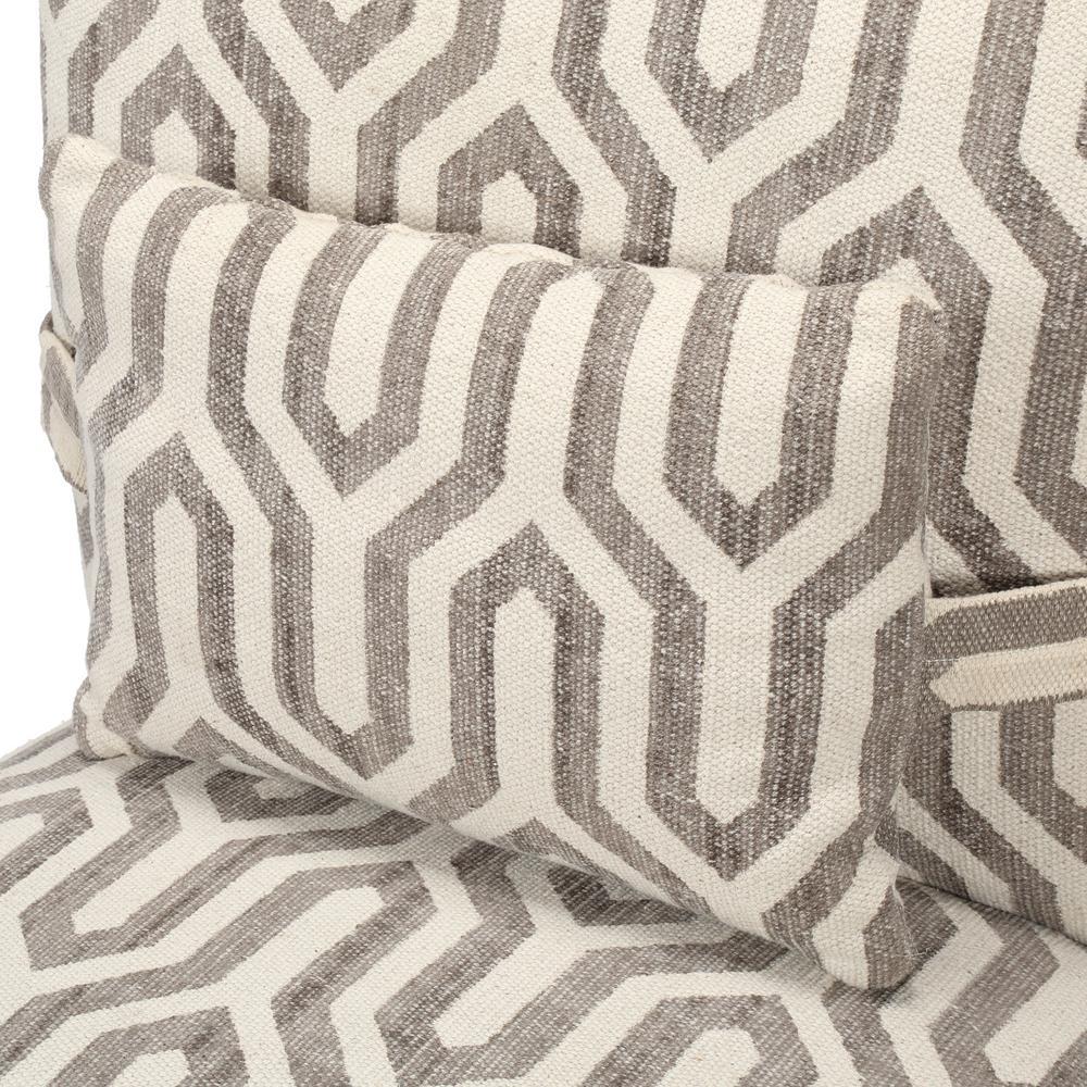Internet #301026712. +8. Home Decorators Collection Alik Taupe Kilim Accent  Chair