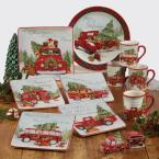 Certified International Home For Christmas Earthenware Round Platter