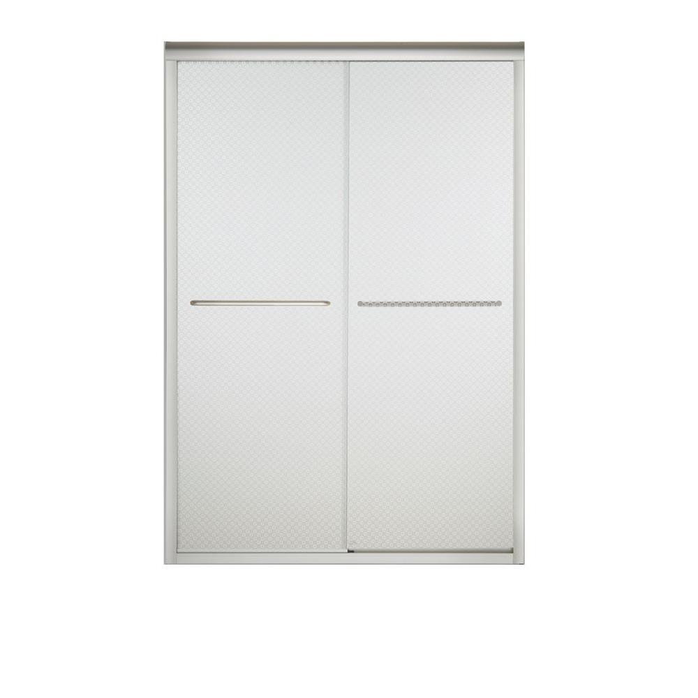 STERLING Finesse 47-5/8 in. x 70-1/16 in. Semi-Frameless Sliding Shower Door in Cirkette Nickel with Handle