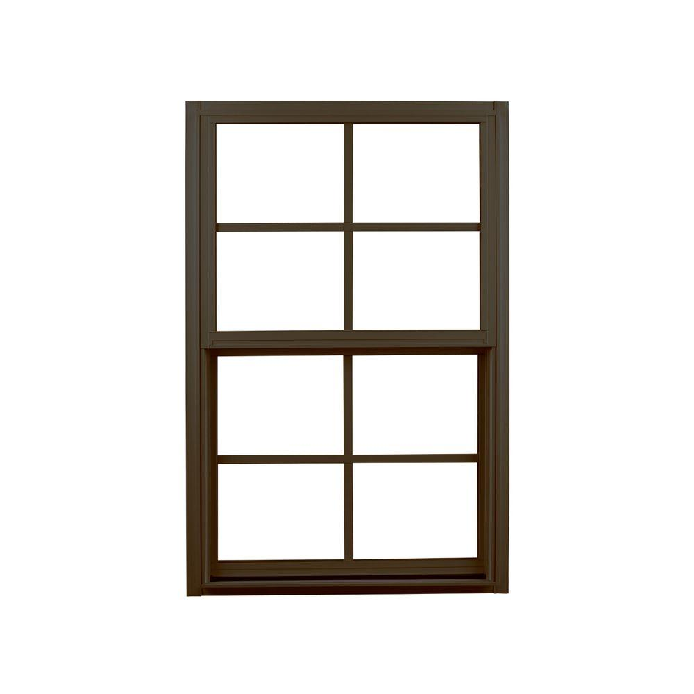 Ply Gem 31 25 In X 59 Single Hung Aluminum Window Bronze