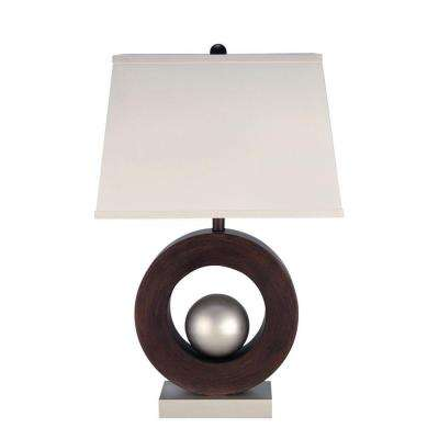 28.8 in. Polished Steel Table Lamp