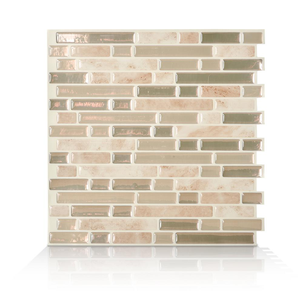 This Review Is From:Bellagio Sabbia Beige 10.06 In. W X 10.00 In. H Peel  And Stick Self Adhesive Decorative Mosaic Wall Tile Backsplash