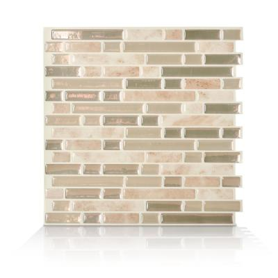 Bellagio Sabbia Beige 10.06 in. W x 10.00 in. H Peel and Stick Self-Adhesive Decorative Mosaic Wall Tile Backsplash