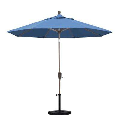 Aluminum Auto Tilt Patio Umbrella In Capri Pacifica
