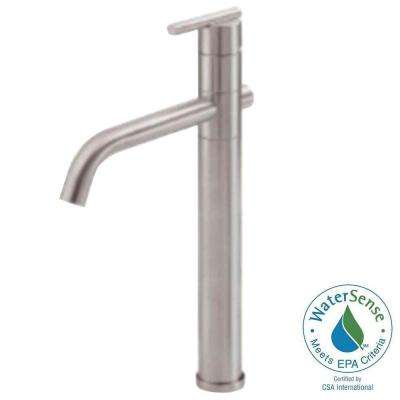 Parma Single Hole Single-Handle High-Arc Vessel Bathroom Faucet in Brushed Nickel