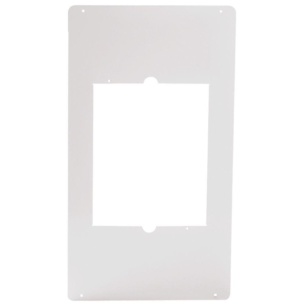 Cadet Com-Pak Series 1/10 in. x 12 in. x 21 1/4 in. Metal Adapter Plate White