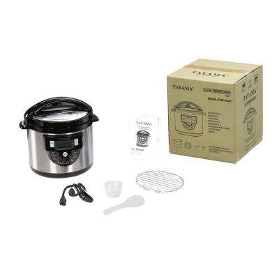 Electric Pressure Cooker with Stainless Steel Pot 6 Qt.
