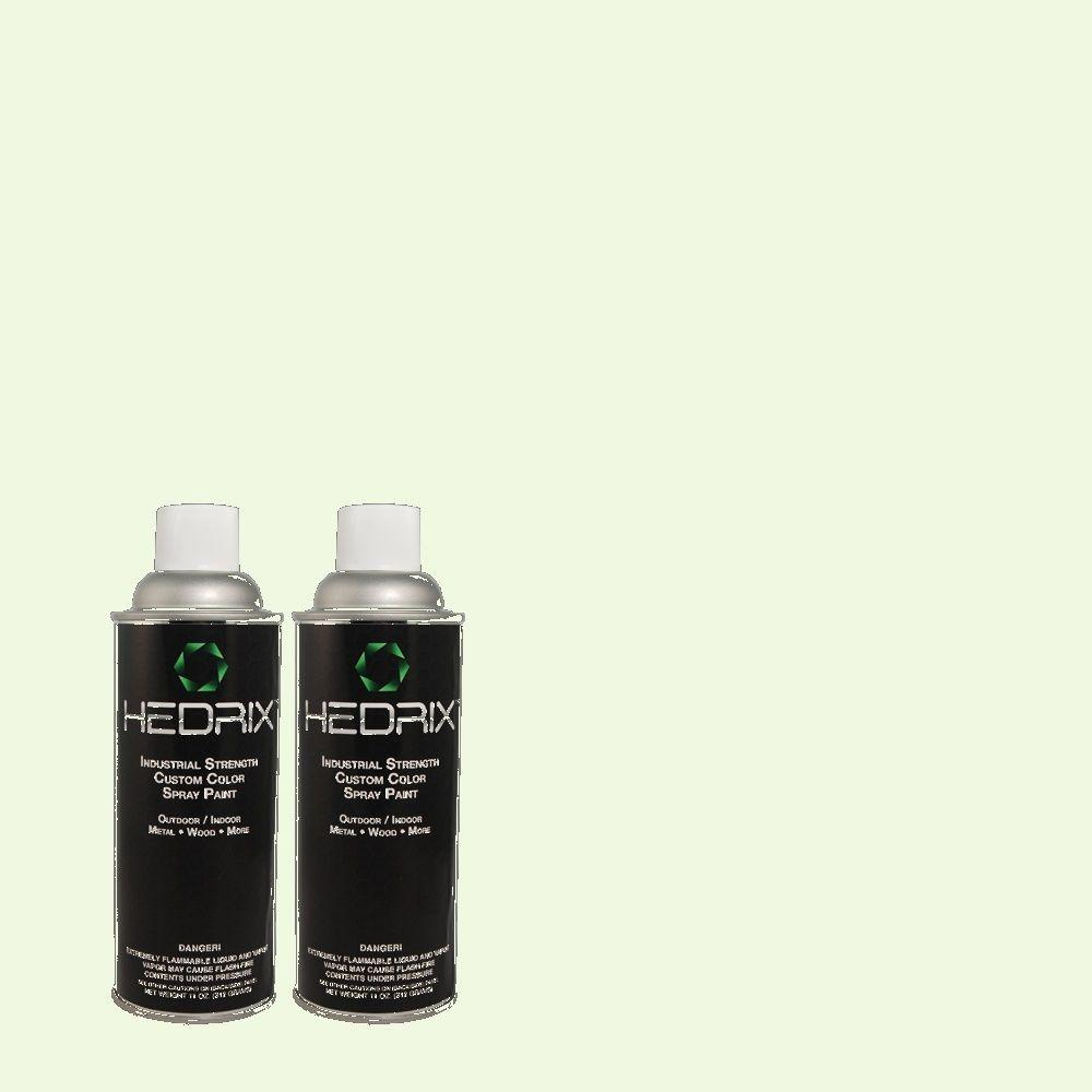 Hedrix 11 oz. Match of 430A-1 Mint Hint Semi-Gloss Custom Spray Paint (2-Pack)