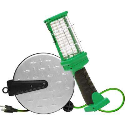 72-LED 30 ft. 16/3 Integrated LED Portable Guarded Trouble Work Light with Metal Heavy-Duty Retractable Cord Reel