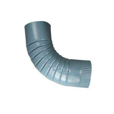 4 in. Round Traditional Blue Aluminum Downpipe Elbow
