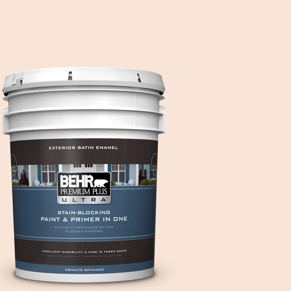 BEHR Premium Plus Ultra 5-gal. #230A-1 Shell Ginger Satin Enamel Exterior Paint